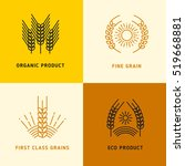 harvesting vector logos with... | Shutterstock .eps vector #519668881