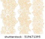 mehndi ribbons. paisley design. ... | Shutterstock .eps vector #519671395