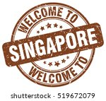 welcome to singapore. stamp.
