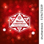 christmas sparkling background... | Shutterstock .eps vector #519673339