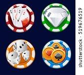 design collection poker icon... | Shutterstock .eps vector #519676519