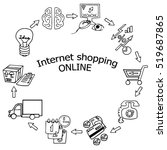 online shopping process... | Shutterstock .eps vector #519687865