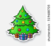 vector illustration. christmas... | Shutterstock .eps vector #519688705