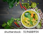 green curry with chicken  kang... | Shutterstock . vector #519688954
