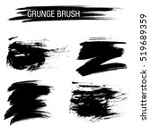 vector set of grunge brush... | Shutterstock .eps vector #519689359