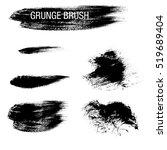 vector set of grunge brush... | Shutterstock .eps vector #519689404