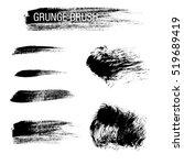 vector set of grunge brush...   Shutterstock .eps vector #519689419