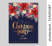 poinsettia christmas party... | Shutterstock .eps vector #519691087