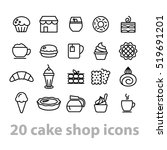 cake shop icons collection | Shutterstock .eps vector #519691201