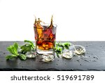 glass of cola drink with ice... | Shutterstock . vector #519691789