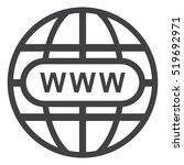 website icon vector flat design ... | Shutterstock .eps vector #519692971