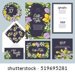 set of templates  for wedding... | Shutterstock .eps vector #519695281
