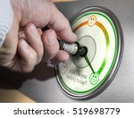 hand turning a mood indicator... | Shutterstock . vector #519698779