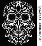 day of the dead skull | Shutterstock .eps vector #51969904
