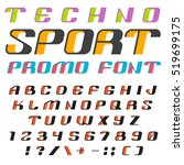 3d font vector design for sport ... | Shutterstock .eps vector #519699175