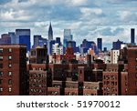 new york city skyline on a... | Shutterstock . vector #51970012