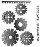 set of gears   Shutterstock .eps vector #51970033