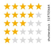 5 star rating icon vector... | Shutterstock .eps vector #519705664