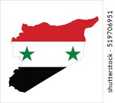 syria map  | Shutterstock .eps vector #519706951