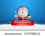 santa claus merry christmas and ... | Shutterstock .eps vector #519708211