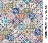 abstract patterns in the mosaic ... | Shutterstock .eps vector #519709537