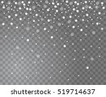falling snow on a transparent... | Shutterstock .eps vector #519714637