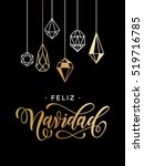 merry christmas spanish feliz... | Shutterstock .eps vector #519716785
