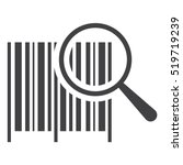 barcode icon vector flat design ... | Shutterstock .eps vector #519719239