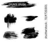 vector set of grunge brush... | Shutterstock .eps vector #519720301