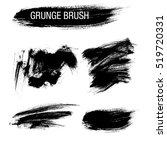 vector set of grunge brush... | Shutterstock .eps vector #519720331