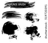 vector set of grunge brush... | Shutterstock .eps vector #519720391
