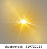 glow light effect. star burst... | Shutterstock .eps vector #519722215