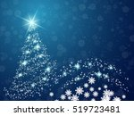 christmas and new year blue... | Shutterstock .eps vector #519723481