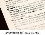 Vision Word Closeup