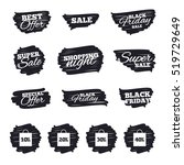 ink brush sale stripes and... | Shutterstock .eps vector #519729649