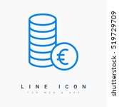 coins isolated minimal icon....   Shutterstock .eps vector #519729709