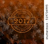 christmas and new year greeting ... | Shutterstock . vector #519734995