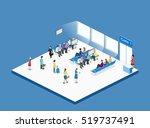 isometric flat 3d concept... | Shutterstock .eps vector #519737491