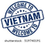 welcome to vietnam. stamp. | Shutterstock .eps vector #519740191