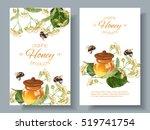 vector linden honey banners... | Shutterstock .eps vector #519741754