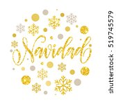 merry christmas in spanish... | Shutterstock .eps vector #519745579