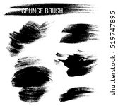 vector set of grunge brush... | Shutterstock .eps vector #519747895