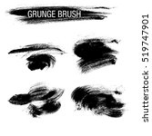 vector set of grunge brush... | Shutterstock .eps vector #519747901