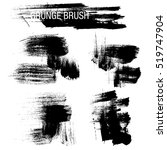 vector set of grunge brush... | Shutterstock .eps vector #519747904