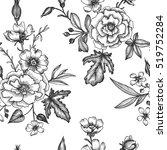 vintage vector floral seamless... | Shutterstock .eps vector #519752284