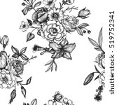 vintage vector floral seamless... | Shutterstock .eps vector #519752341