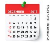 december 2017   calendar....   Shutterstock . vector #519752431