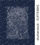 fantasy winter  landscape.... | Shutterstock .eps vector #519753841