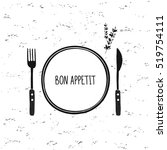 Cutlery Vector Set. Plate  For...