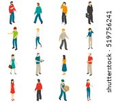 isometric icons set of... | Shutterstock . vector #519756241